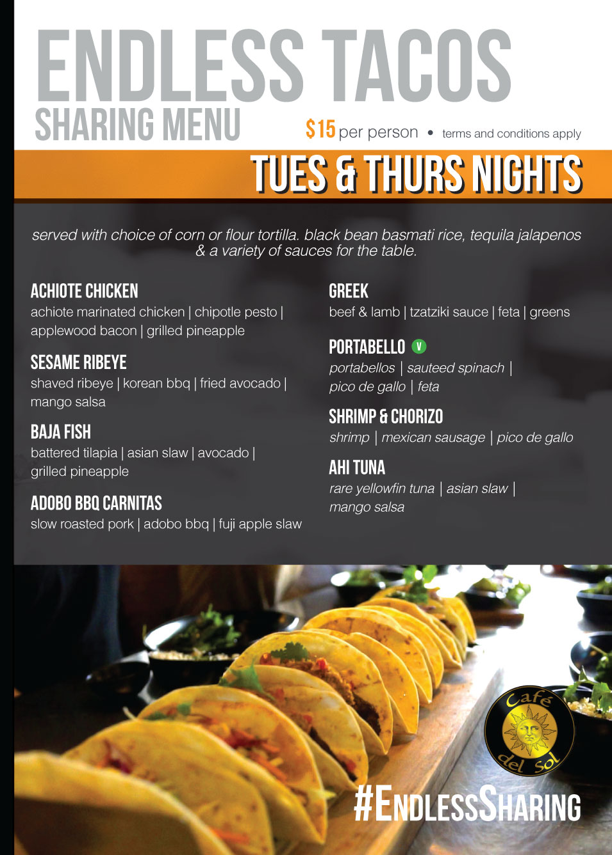 Endless Sharing Tacos