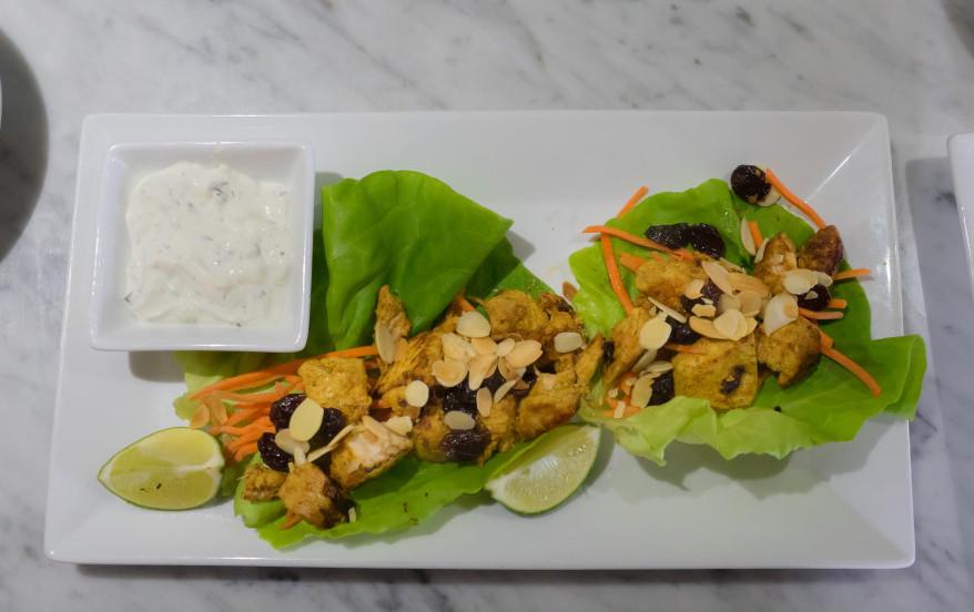 Moroccan Chicken Lettuce Wrap